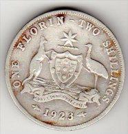 AUSTRALIE - ONE FLORIN-TWO SHILLINGS - 1923 - ARGENT - Monnaie Pré-décimale (1910-1965)
