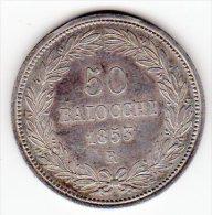 VATICAN - 50 BAIOCCHI  - ARGENT - 1853 R - - Vaticano