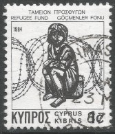 Cyprus. 1984 Obligatory Tax. Refugee Fund. 1c  Used - Cyprus (Republic)