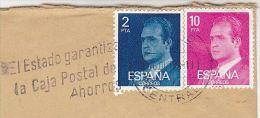 1978 Air Mail SPAIN COVER Stamps SLOGAN Pmk STATE GUARANTEES  POSTAL BANK Post Office Savings Bank Banking Finance - Post