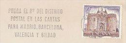 1977 Barcelona SPAIN COVER PUERTA DE BISAGRA Stamps SLOGAN Pmk POSTAL DISTRICT NUMBERS - 1931-Hoy: 2ª República - ... Juan Carlos I