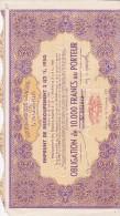 GOUVERNEMENT GENERAL DE L  ALGERIE EMPRUNT DE REGROUPEMENT 2 1/2 % 1950 - Bank & Insurance