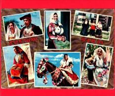 ITALIA - SARDEGNA - Cartolina Viaggiata Anni 70 - COSTUMI Sardi - Quartu S. Elena - Nuoro - Desulo - Sennori - Quartu Sant'Elena