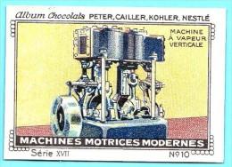 Nestlé - XVII - Machines Motrices Modernes, Modern Machines - 10 - Machine à  Vapeur Verticale, Vertical Steam Engine - Nestlé