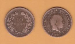 PORTUGAL  (D.Carlos I 1889-1908)  10  Reis 1.891 Bronce KM#532   MBC/VF   DL-10.743 - Portugal