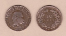 PORTUGAL  (D.Carlos I 1889-1908)  10  Reis 1.892  A PARIS Bronce KM#532   MBC/VF   DL-10.745 - Portugal