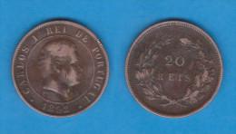 PORTUGAL  (D.Carlos I 1889-1908)  20  Reis 1.892  Bronce KM#533   MBC/VF   DL-10.750 - Portugal