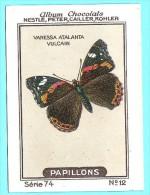 Nestlé - 74 - Papillons, Butterflies - 12 - Vanessa Atalanta, Vulcain, Red Admiral - Nestlé
