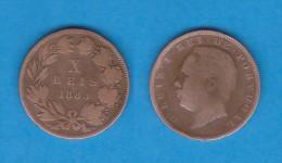 PORTUGAL  (D.Luis I 1861-1889)  X  Reis 1.883  Bronce KM#526   MBC/VF   DL-10.738 - Portugal