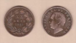 PORTUGAL  (D.Luis I 1861-1889)  XX  Reis 1.883  Bronce KM#527   MBC/VF   DL-10.740 - Portugal