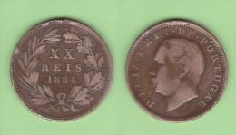PORTUGAL  (D.Luis I 1861-1889)  XX  Reis 1.884  Bronce KM#527   MBC/VF   DL-10.741 - Portugal