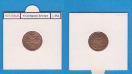 PORTUGAL  (REPÚBLICA)  X Centavos 1.951  Bronce  KM#583   MBC/VF   DL-10.752 - Portugal
