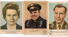 743F) RUSSIE - 3 COSMONAUTES  RUSSES - Russie