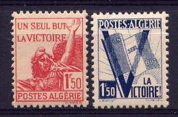 ALGERIE - N° 198/199* - POUR LA VICTOIRE - Algérie (1924-1962)