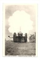 Cp, Militaria, Camp De Mailly, Canon De 155 Long En Action - Kasernen