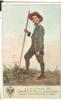 S.A.R. IL PRINCIPE, UMBERTO DI SAVOIA, PRIMO ESPLORATORE D'ITALIA, CORPO NAZIONALE GIOVANI ESPLORATORI, 1921, - Scoutismo