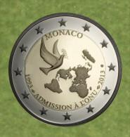 """Monaco 2013 : Lot De 5 Pièces De 2€ Commémorative """"20 Ans De L´adhésion à L´ONU"""" - Mónaco"""