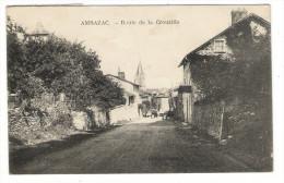 HAUTE-VIENNE  /  AMBAZAC  /  ROUTE  DE  LA  CROUZILLE  /  Edit.  F. PALAU - Ambazac