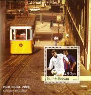 gb3114a Guinea Bissau 2003 Football EURO 2004 Porugal s/s Soccer  Car Train