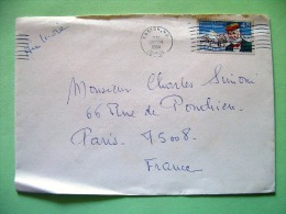 USA 1988 Cover Easton To France - Langley Plane - Lettres & Documents
