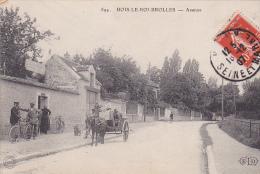 22933 BOIS LE ROI BROLLES - AVENUE -894 ELD -Achille Varly Horticulteur - Charette