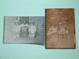 Kinderen Met Tropenhelm/hoed Te LIKASI ( Fermittière ) Anno 1929 ( Zie Foto Voor Details ) ! - Lieux