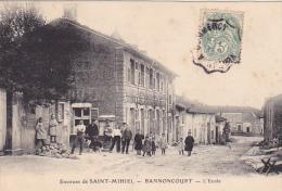 22952 Près Saint Mihiel , Bannoncourt Ecole - Foliguet Photo -enfant -tampon Convoyeur Verdun à Commercy - Saint Mihiel