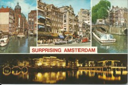 Surprising Amsterdam  Co713 Euro Cards/Rotterdam   Front & Back Shown Of Postcard - Amsterdam