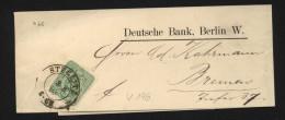 39,EF Auf Schönen Streifband Der Deutschen Bank Steglitz ,Feuser +20 Punkte (5710) Preis Wurde Reduziert !! - Cartas