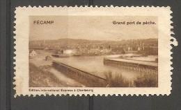 VIGNETTE - PUBLICITE FECAMP (GRAND PORT DE PECHE) - Commemorative Labels