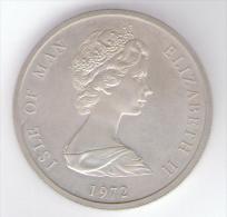 ISLE OF MAN 25 PENCE 1972 AG SILVER - Monete Regionali