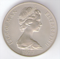 ISLE OF MAN 1 CROWN 1977 AG SILVER - Monete Regionali