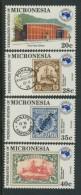 BL4-105 MICRONESIA 1984 MI 24-27 AUSIPEX 84, PHILATELIC EXHIBITION. MNH, POSTFRIS, NEUF**. - Micronesië