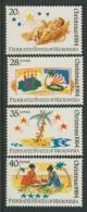 BL4-106 MICRONESIA 1984 MI 28-31 CHRISTMAS, WEIHNACHTEN, NATAL, JUL, KERST, NAVIDAD. MNH, POSTFRIS, NEUF**. - Micronesië
