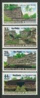 BL4-108 MICRONESIA 1986 MI 45-48 MADOL RUINES. MNH, POSTFRIS, NEUF**. - Micronesië