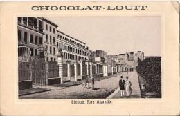 CHROMO CHOCOLAT LOUIT  DIEPPE RUE AGUADO - Louit