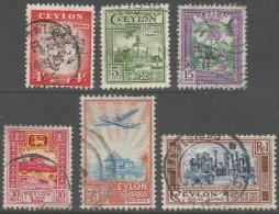 Ceylon. 1950 Definitives, Used Complete Set - Sri Lanka (Ceylon) (1948-...)