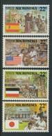 BL4-113 MICRONESIA 1988 MI 83-86 KOLONIAIAL HISTORY OF MICRONESIA. MNH, POSTFRIS, NEUF**. - Micronesië