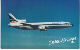 Thème -  Avion - Delta Airlines - Lockheed L 1011 Tristar -  Format 8.5*13.5  Cm - - 1946-....: Moderne