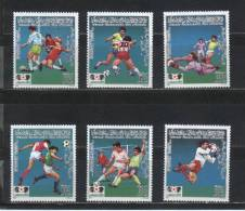 LIBYE    N°  1620/25   * *  (cote 12e)  Cup 1986  Football  Soccer Fussball - 1986 – Messico