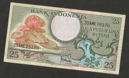 [NC] INDONESIA - BANK INDONESIA - 25 RUPIAH (1959) - UNC - Indonesia