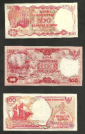 [NC] INDONESIA - BANK INDONESIA - 100 RUPIAH (LOT Of 3 DIFFERENT BANKNOTES) - UNC - Indonesia