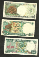 [NC] INDONESIA - BANK INDONESIA - 500 RUPIAH (LOT Of 3 DIFFERENT BANKNOTES) - UNC - Indonesia