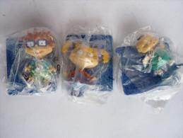 3 FIGURINES RAZEMOKET - PUBLICITAIRES CADEAU BONUX 2001 - VIACOM COMPLETE EN SACHETS SCELLES AVEC ACCESSOIRES - Figurines