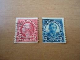 USA: 2 Werte Präsidenten - Used Stamps