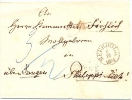 Meerholz, Brief Nach Philipseich / Langen, 1864 - Tour Et Taxis