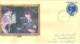 AUSTRALIE. 75 Ans Du Scoutisme En Australie, Entier Postal Lord Baden Powell. - Scouting