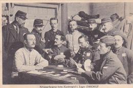 22976 GUERRE 1914 -Ohrdruf - Prisonnier Guerre Militaire Peltier - Kartenspiel Jeux Cartes   -sans Ed- - Guerre 1914-18