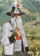 Autriche, Tyrol - Homme à La Pipe - Grub Aus Dem Zillertal - Costumi