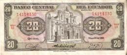 BILLETE DE ECUADOR DE 20 SUCRES DEL AÑO 1980 (BANKNOTE) - Ecuador